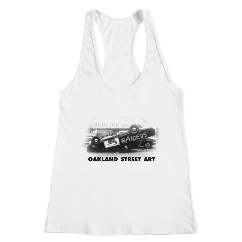 Oakland Street Art Women's Racerback Tank by Mike Hampton's T-Shirt Shop