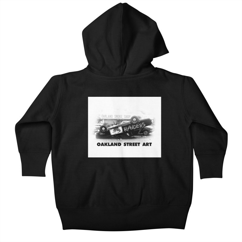 Oakland Street Art Kids Baby Zip-Up Hoody by Mike Hampton's T-Shirt Shop