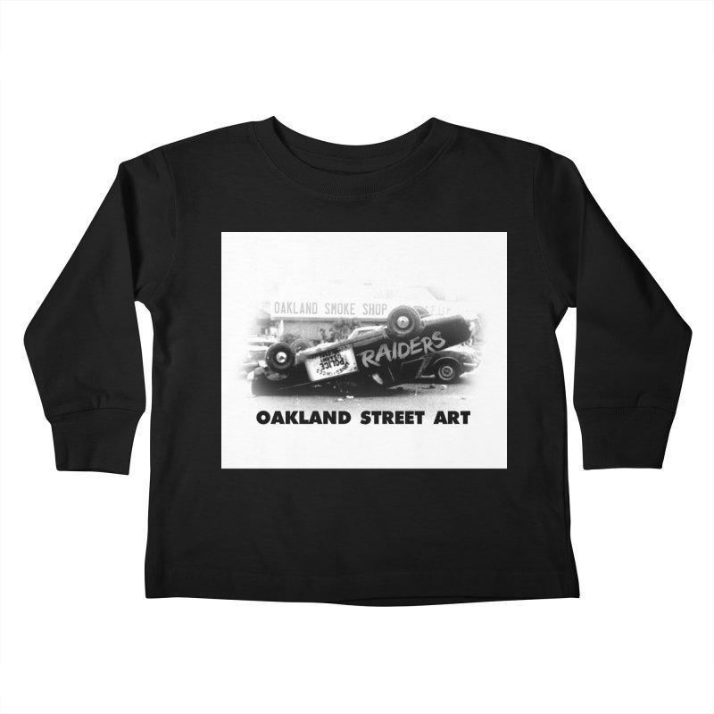 Oakland Street Art Kids Toddler Longsleeve T-Shirt by Mike Hampton's T-Shirt Shop