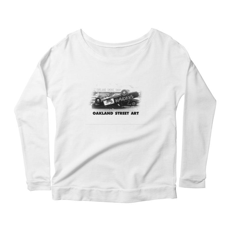 Oakland Street Art Women's Scoop Neck Longsleeve T-Shirt by Mike Hampton's T-Shirt Shop