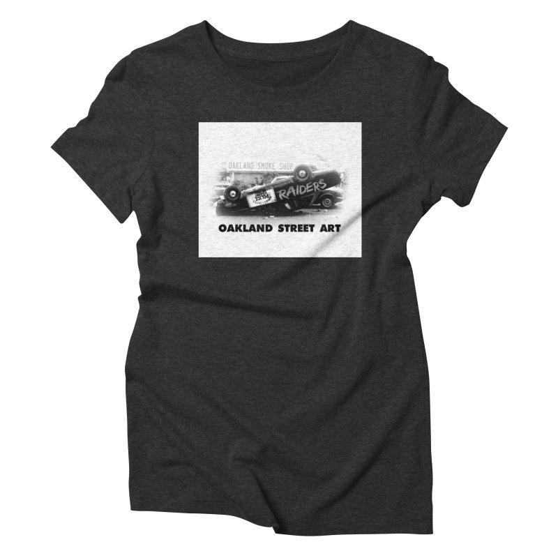 Oakland Street Art Women's Triblend T-Shirt by Mike Hampton's T-Shirt Shop