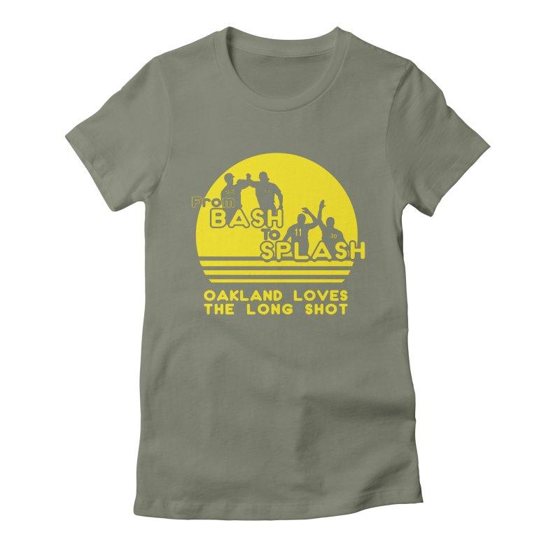 Bash 2 Splash Women's Fitted T-Shirt by Mike Hampton's T-Shirt Shop