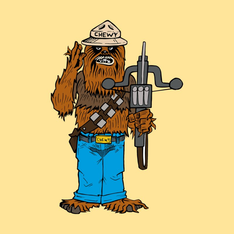 Smokey the Wookie Men's V-Neck by Mike Hampton's T-Shirt Shop
