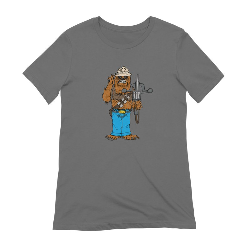 Smokey the Wookie Women's T-Shirt by Mike Hampton's T-Shirt Shop