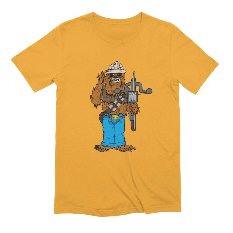 Smokey the Wookie Men's Extra Soft T-Shirt by Mike Hampton's T-Shirt Shop