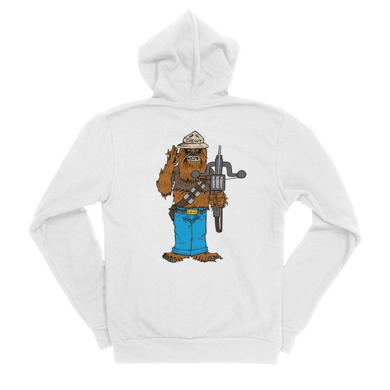 Smokey the Wookie Men's Sponge Fleece Zip-Up Hoody by Mike Hampton's T-Shirt Shop