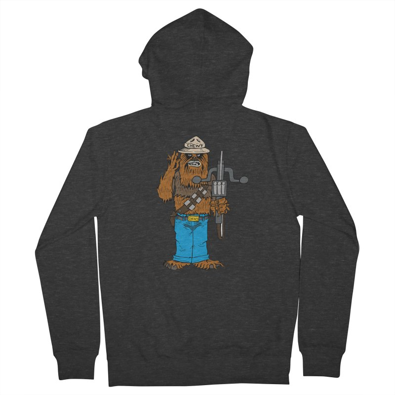 Smokey the Wookie Men's French Terry Zip-Up Hoody by Mike Hampton's T-Shirt Shop