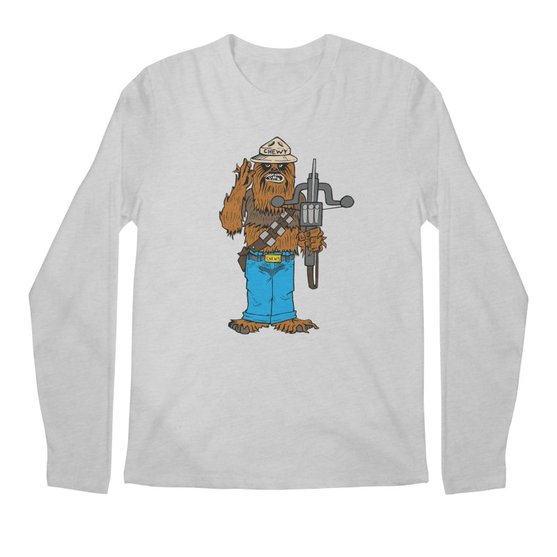 Smokey the Wookie Men's Regular Longsleeve T-Shirt by Mike Hampton's T-Shirt Shop