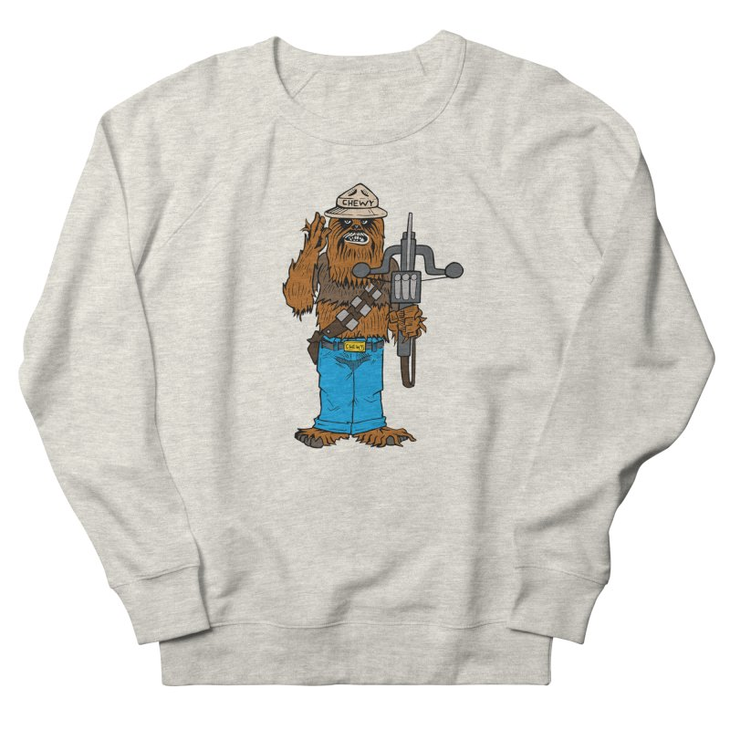 Smokey the Wookie Women's French Terry Sweatshirt by Mike Hampton's T-Shirt Shop