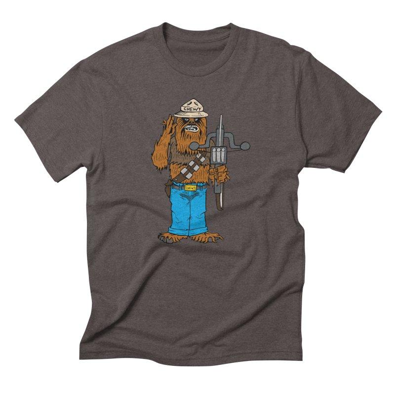 Smokey the Wookie Men's Triblend T-Shirt by Mike Hampton's T-Shirt Shop