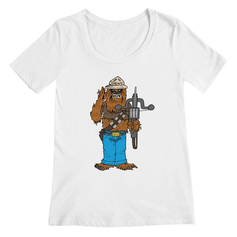 Smokey the Wookie Women's Regular Scoop Neck by Mike Hampton's T-Shirt Shop