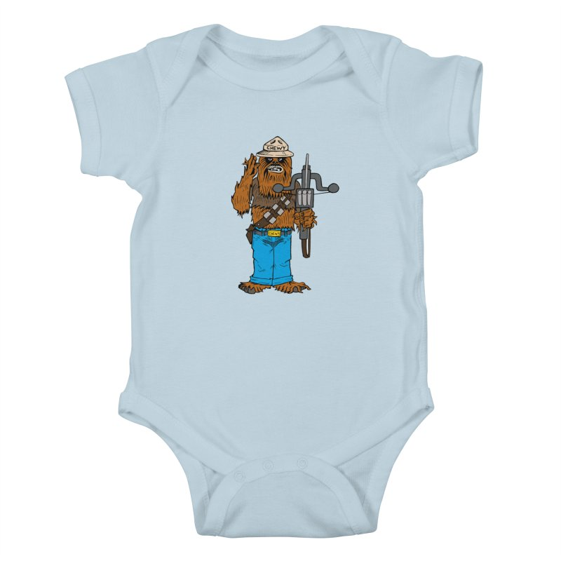 Smokey the Wookie Kids Baby Bodysuit by Mike Hampton's T-Shirt Shop