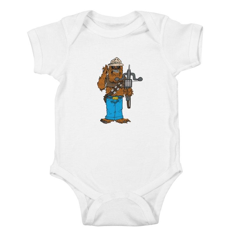 Smokey the Wookie Kids Baby Bodysuit by Mike Hampton's T-Shirt Shop
