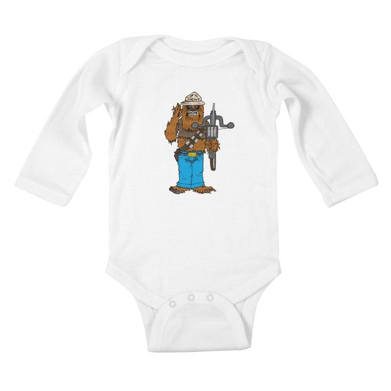 Smokey the Wookie Kids Baby Longsleeve Bodysuit by Mike Hampton's T-Shirt Shop