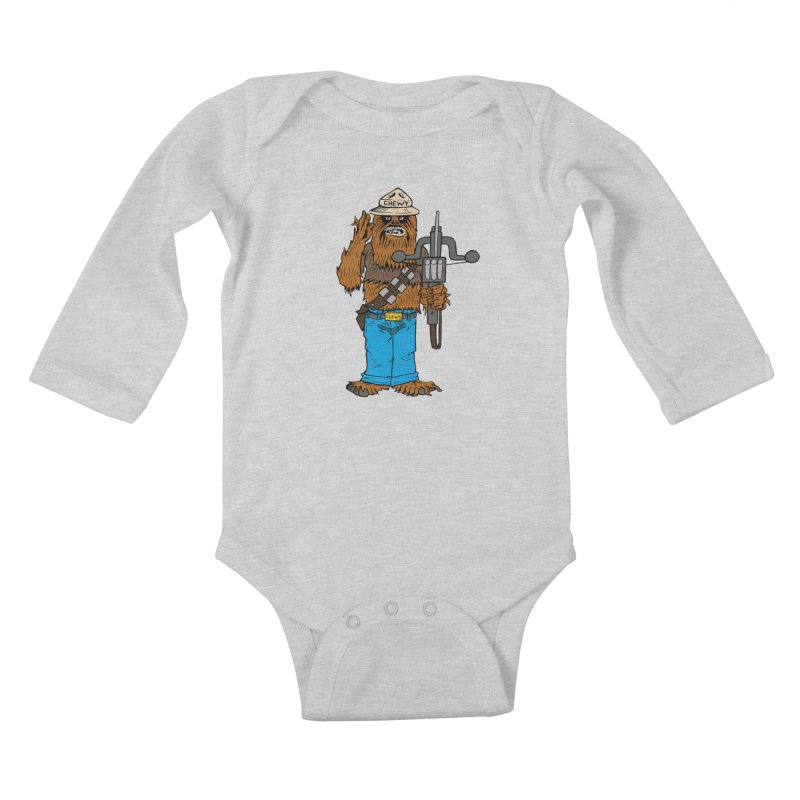 Smokey the Wookie Kids Baby Longsleeve Bodysuit by Mike Hampton's T-Shirt Shop