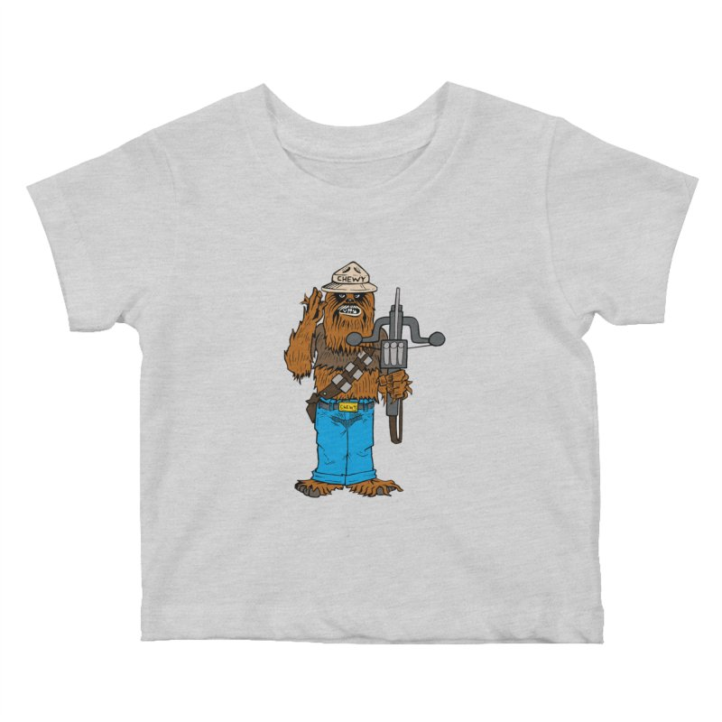 Smokey the Wookie Kids Baby T-Shirt by Mike Hampton's T-Shirt Shop
