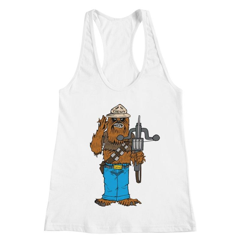 Smokey the Wookie Women's Racerback Tank by Mike Hampton's T-Shirt Shop