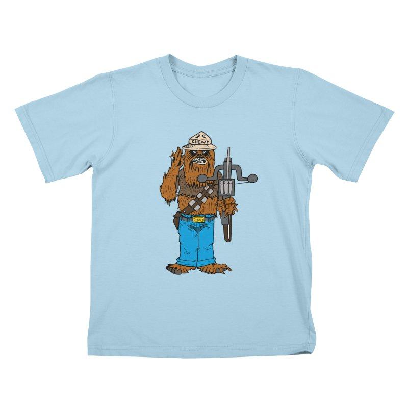 Smokey the Wookie Kids T-Shirt by Mike Hampton's T-Shirt Shop
