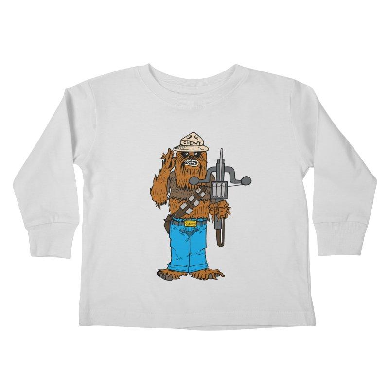 Smokey the Wookie Kids Toddler Longsleeve T-Shirt by Mike Hampton's T-Shirt Shop