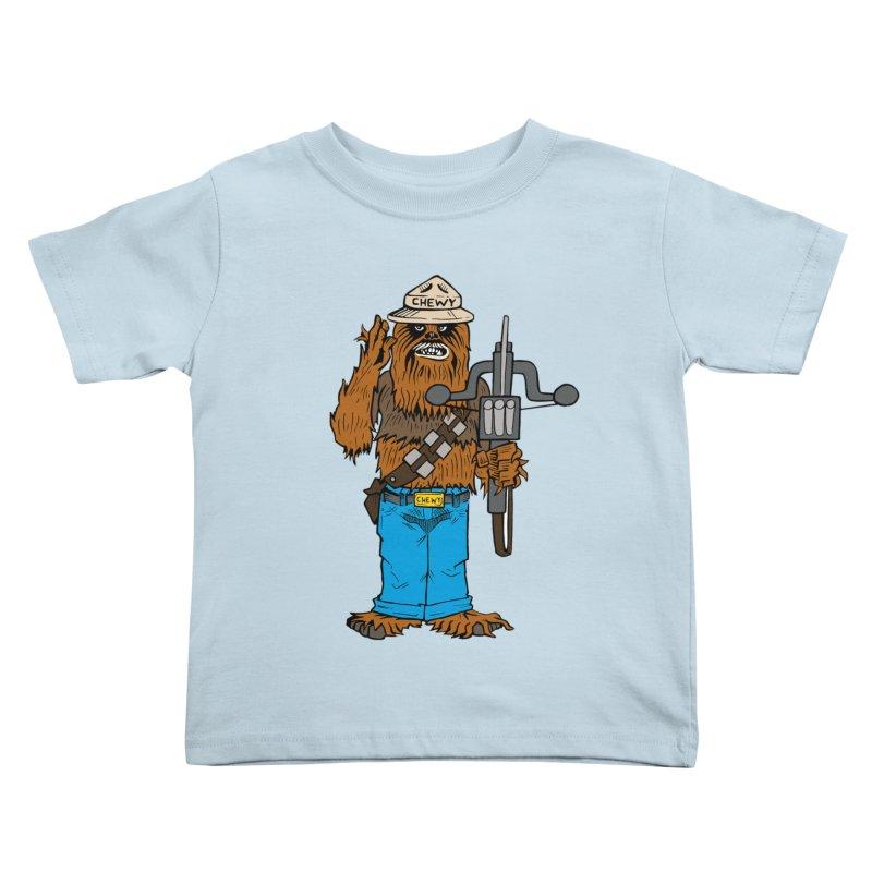 Smokey the Wookie Kids Toddler T-Shirt by Mike Hampton's T-Shirt Shop
