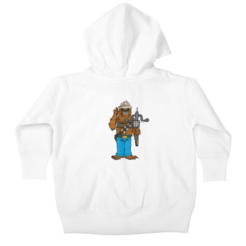 Smokey the Wookie Kids Baby Zip-Up Hoody by Mike Hampton's T-Shirt Shop