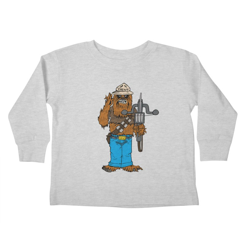 Smokey the Wookie Kids Toddler Longsleeve T-Shirt by Mike Hampton's T-Shirt Shop