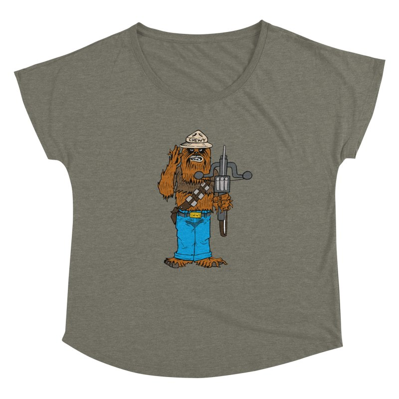 Smokey the Wookie Women's Dolman Scoop Neck by Mike Hampton's T-Shirt Shop
