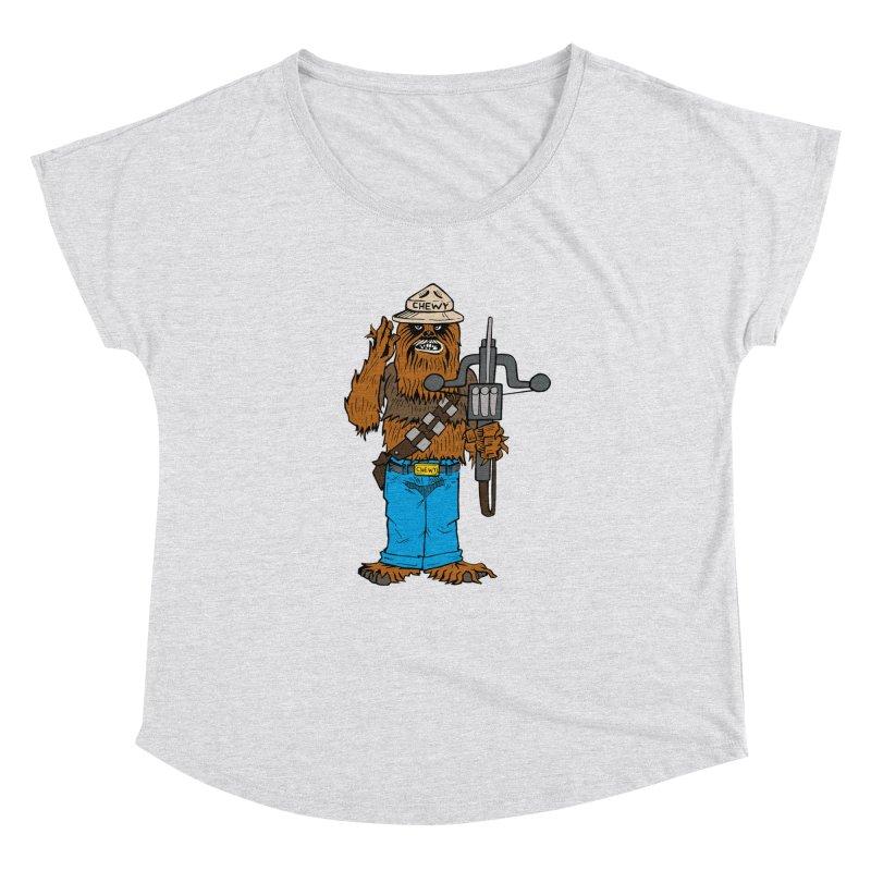 Smokey the Wookie Women's Dolman Scoop Neck by Mike Hampton's T-Shirt Shop