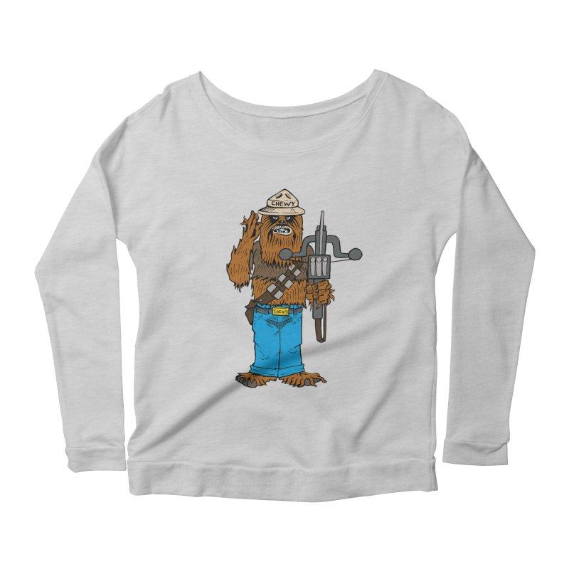 Smokey the Wookie Women's Scoop Neck Longsleeve T-Shirt by Mike Hampton's T-Shirt Shop