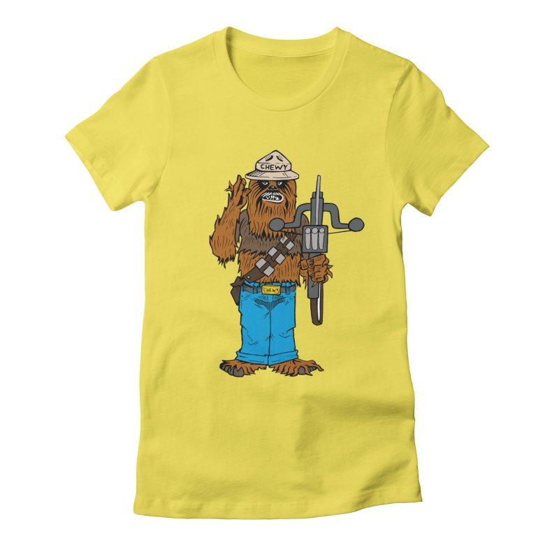 Smokey the Wookie Women's T-Shirt by Mike Hampton's T-Shirt Shop