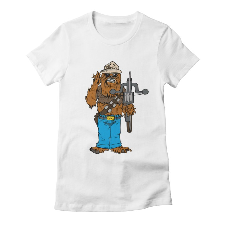 Smokey the Wookie Women's Fitted T-Shirt by Mike Hampton's T-Shirt Shop