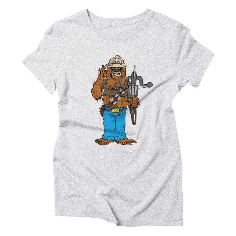 Smokey the Wookie Women's Triblend T-Shirt by Mike Hampton's T-Shirt Shop
