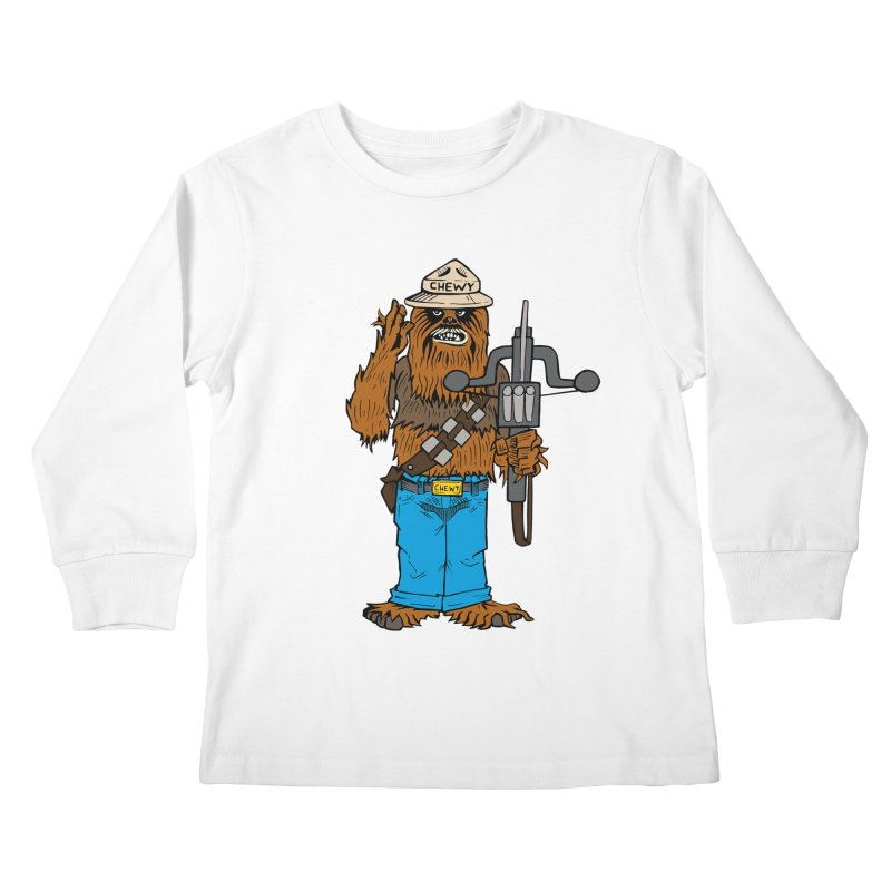 Smokey the Wookie Kids Longsleeve T-Shirt by Mike Hampton's T-Shirt Shop