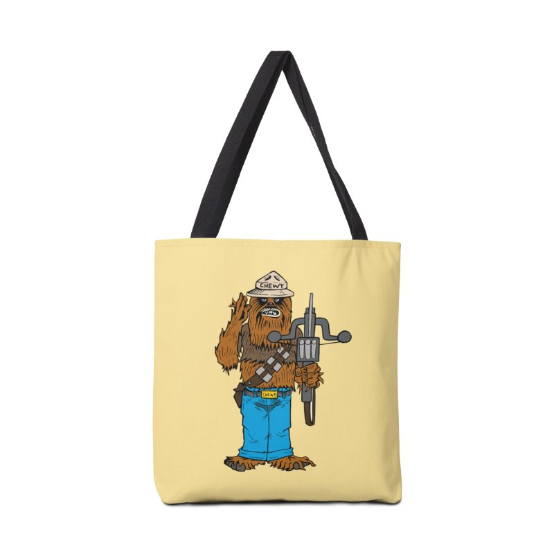 Smokey the Wookie Accessories Tote Bag Bag by Mike Hampton's T-Shirt Shop