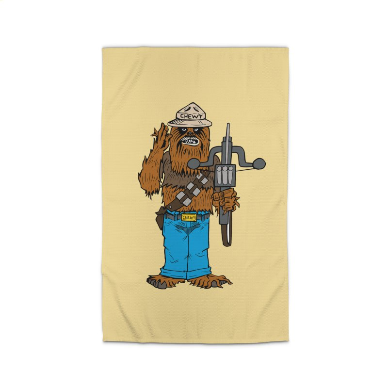 Smokey the Wookie Home Rug by Mike Hampton's T-Shirt Shop