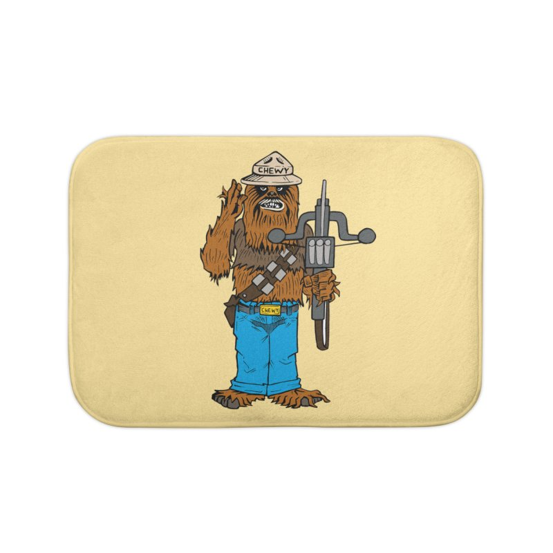 Smokey the Wookie Home Bath Mat by Mike Hampton's T-Shirt Shop