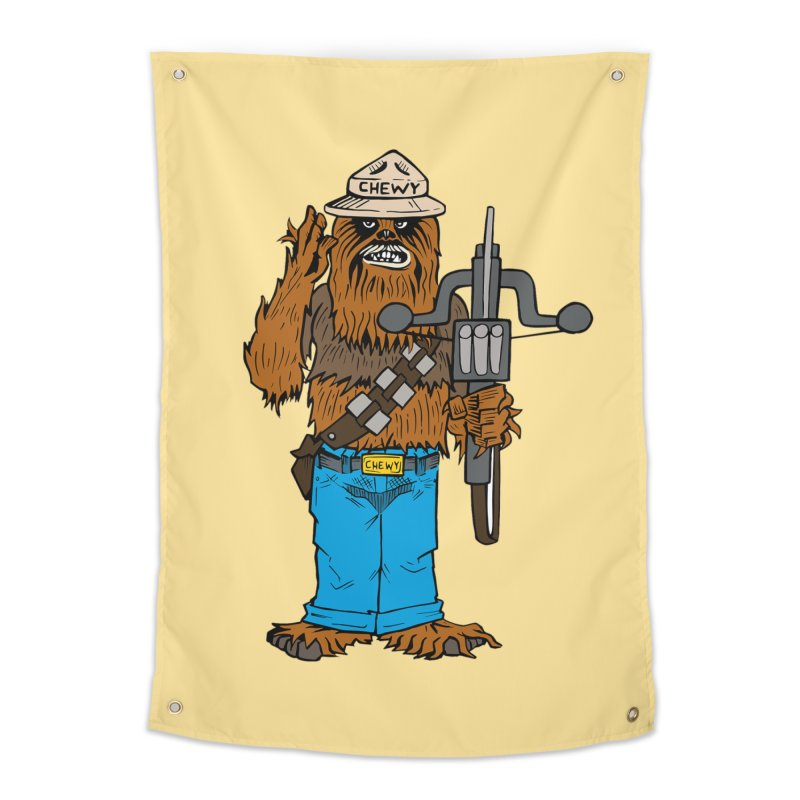 Smokey the Wookie Home Tapestry by Mike Hampton's T-Shirt Shop