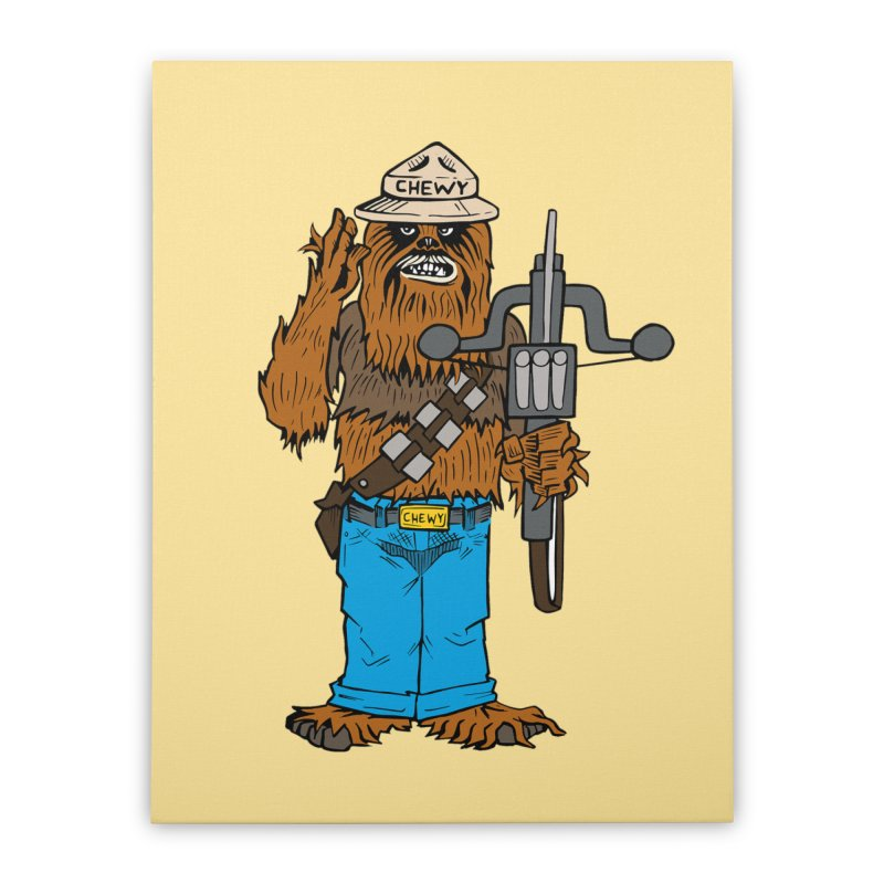 Smokey the Wookie Home Stretched Canvas by Mike Hampton's T-Shirt Shop