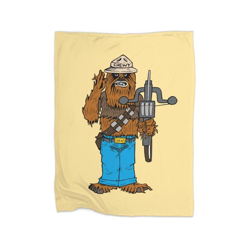 Smokey the Wookie Home Blanket by Mike Hampton's T-Shirt Shop