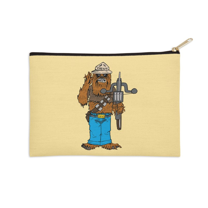 Smokey the Wookie Accessories Zip Pouch by Mike Hampton's T-Shirt Shop