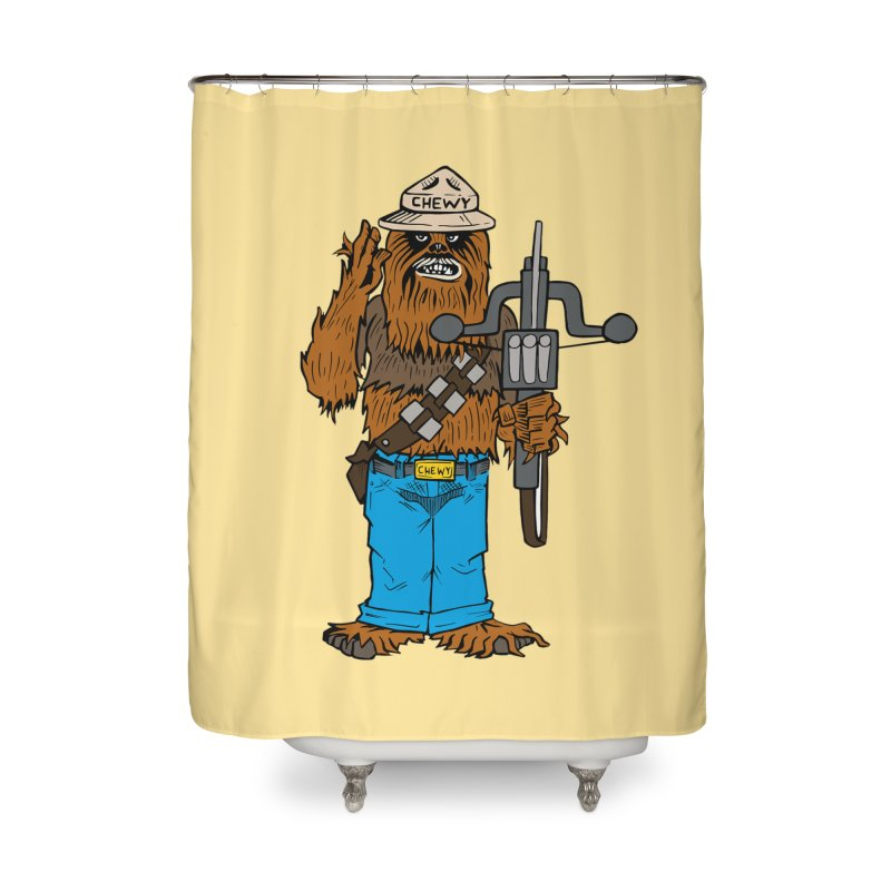 Smokey the Wookie Home Shower Curtain by Mike Hampton's T-Shirt Shop
