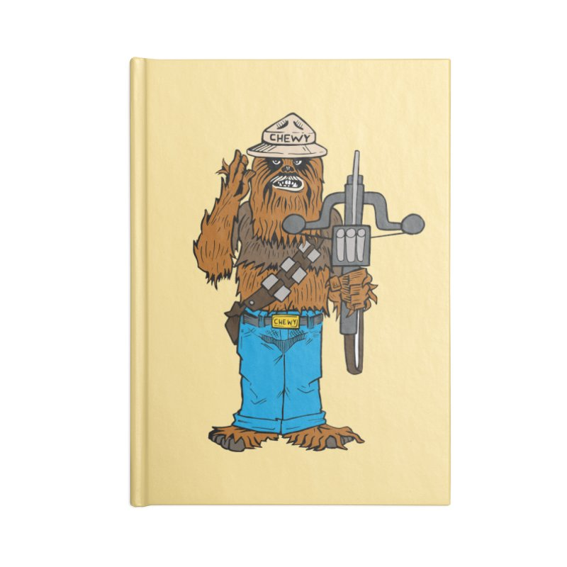 Smokey the Wookie Accessories Notebook by Mike Hampton's T-Shirt Shop