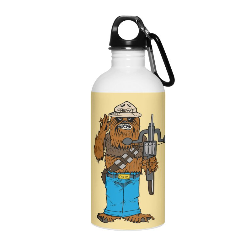 Smokey the Wookie Accessories Water Bottle by Mike Hampton's T-Shirt Shop