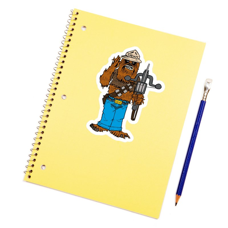 Smokey the Wookie Accessories Sticker by Mike Hampton's T-Shirt Shop
