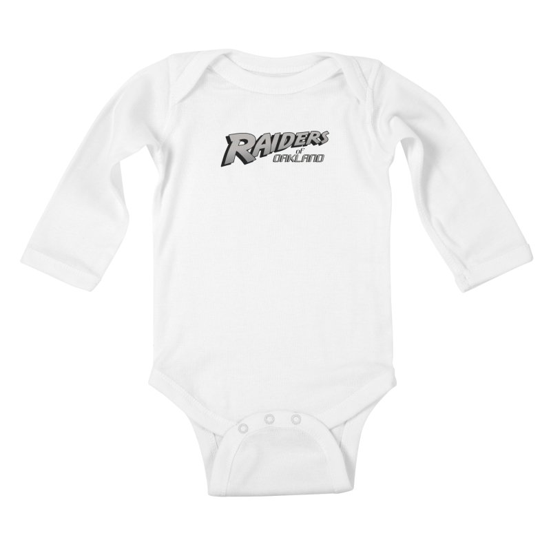 Raiders of Oakland (for now..) Kids Baby Longsleeve Bodysuit by Mike Hampton's T-Shirt Shop