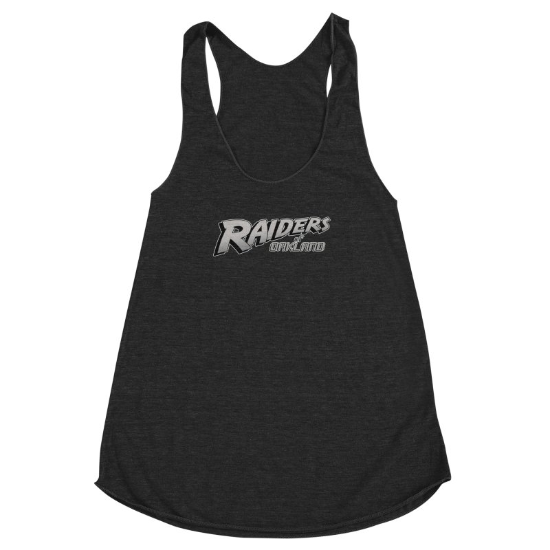 Raiders of Oakland (for now..) Women's Racerback Triblend Tank by Mike Hampton's T-Shirt Shop