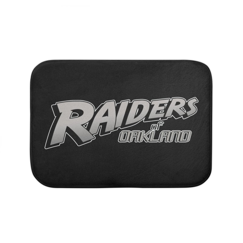 Raiders of Oakland (for now..) Home Bath Mat by Mike Hampton's T-Shirt Shop