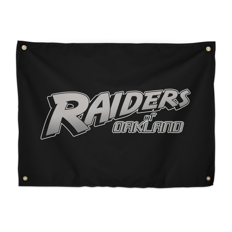 Raiders of Oakland (for now..) Home Tapestry by Mike Hampton's T-Shirt Shop