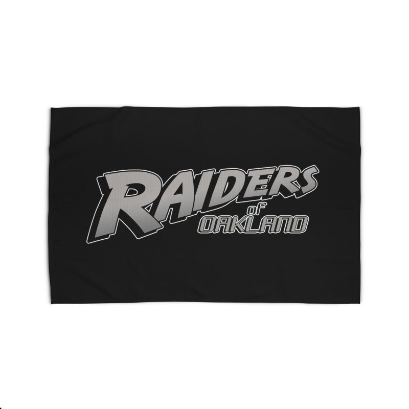 Raiders of Oakland (for now..) Home Rug by Mike Hampton's T-Shirt Shop