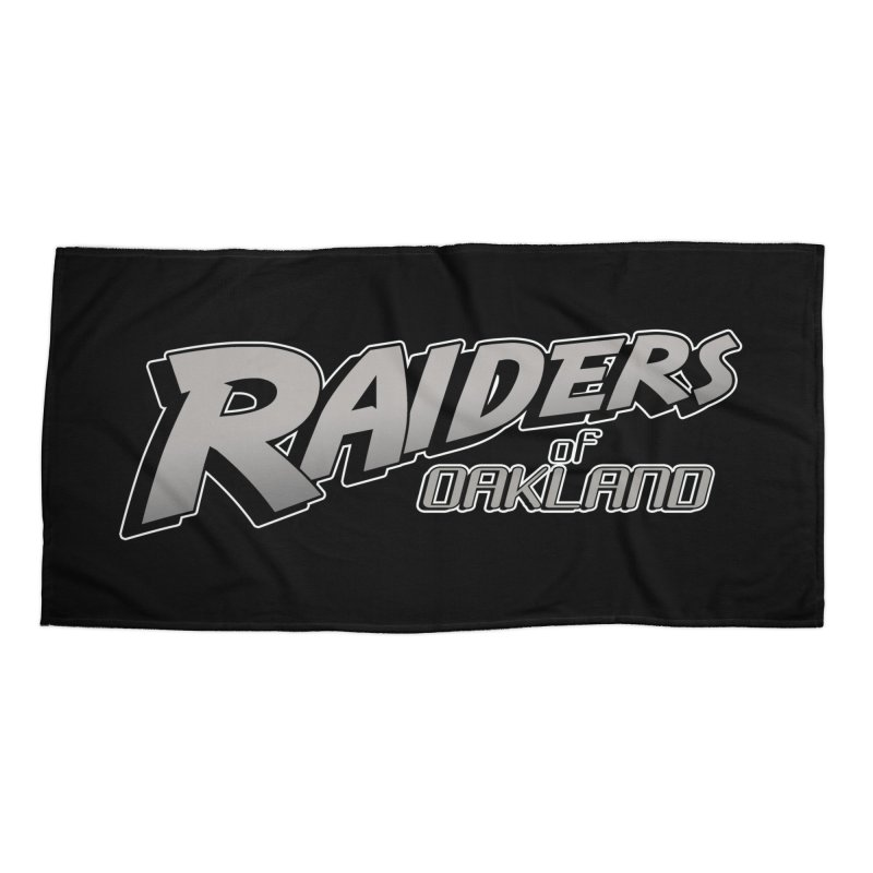 Raiders of Oakland (for now..) Accessories Beach Towel by Mike Hampton's T-Shirt Shop